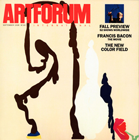 "Monique Prieto, Pedestrian, 1998, acrylic on canvas, ca. 84 x 72¼"" on the cover of Artforum"