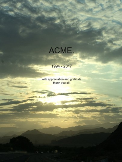 Goodbye Acme